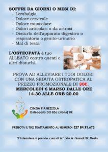 GIORNATA DELLA VALUTAZIONE OSTEOPATICA @ L'infermiere si prende cura di te | Desio | Lombardia | Italia